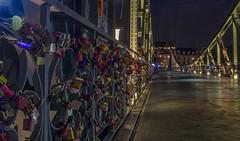 (Paul B0udreau) Tags: frankfurt raw nikon germany lights tripod bridge lovelocks eisernerstegbridge mainriver people longexposure padlocks
