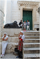 """Smoke Break"" - Temple of Jupiter, Split, Croatia (TravelsWithDan) Tags: girls workers women candid streetphotography croatia smoking split oldtown templeofjupiter diocletianspalace"