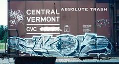 Ewok (absolutetrashmag) Tags: absolutetrash absolutetrashmag graffiti magazine film 35mm 90s ewok imok freights
