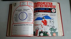 Official Club Bound Volume of the United Review programmes for Season 1976-1977 (Leslie Millman-Manchesterunitedman1) Tags: bound volume