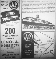 A&P Moorestown NJ Opening Ad 05-02-60 (JSF0864) Tags: food building logo centennial drawing ad supermarket advertisement ap opening storwe