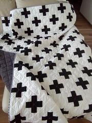 Swiss-cross-quilt_000014 (irina_vykhrestiuk) Tags: modern quilt handmade homemade twin kid child patchwork bedding bed quilting memory throw