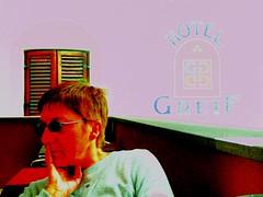 Hotel Greif (magellano) Tags: woman sign hotel glasses donna candid insegna mals sdtirol altoadige occhiali greif venosta malles