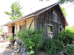Repurposed Half Timbered Building (Patricia Henschen) Tags: flowers flower building wisconsin rural garden farm center historic german american colgate halftimbered chickenhouse monchesfarm monches