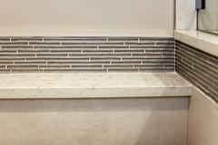 Continuous Tile Detail (Kimberly Lewis-Manning Design) Tags: glass tile mosaic cream decora quartz alignment