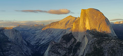 Panorama of Half Dome at Sunset (GGChung) Tags: yosemite halfdome glacierpoint