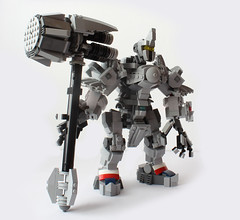 Reinhardt at your service! (hachiroku24) Tags: hammer toy lego character suit creation armor reinhardt overwatch