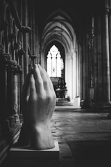 Pray (I AM JAMIE KING) Tags: sculpture church stone architecture religious hands peace prayer pray arches medieval spiritual ecumenical beverleyminster