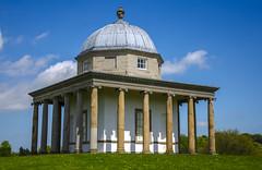 The Temple of Minerva (Preston Ashton) Tags: park door blue sky green window grass clouds temple lawn pillars minerva hardwick templeofminerva prestonashton