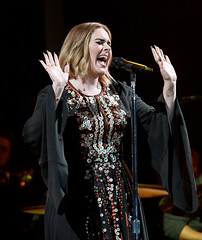 (Planete Adele) Tags: uk concert glastonbury blonde adele blackdress
