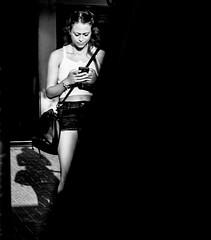 call me (Ran Elmaliach) Tags: blackandwhite white black monochrome lines dark photography israel blackwhite background side surreal gr ricoh ricohgr strret ranelmaliach