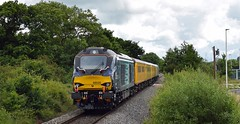 Network Rail Test Train at Cranbrook (philwakely) Tags: class68 68004 68020 networkrail testtrain flyingbanana exeter trains train railway railways rail diesel locomotive