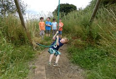 Everybody got into the swing of it (Shamus O'Reilly) Tags: birthday children jack rope swing oxfordshire actionshot witney coggesmanorfarm