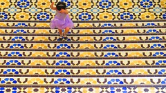 Steps (ac_marvin) Tags: girl stairs canon stair pattern child floor princess patterns tiles malaysia pavilion kualalumpur kl