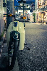 20130506_01_Honda Super Cub (foxfoto_archives) Tags: bike japan photoshop honda tokyo cub super adobe cycle 日本 fujifilm 東京 motor 44 shimokitazawa lightroom ホンダ 下北沢 バイク カブ スーパー x100s