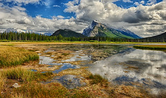 Still Waters (Jeff Clow) Tags: mountrundle albertacanada banffnationalpark canadianrockies vermilionlake