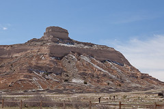 Scottsbluff National Monument (bo mackison) Tags: snow nebraska rocks geology oregontrail nationalparkservice springsnow scottsbluffnationalmonument nebraskapanhandle scottsbluffnebraska