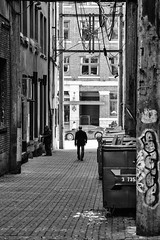 Crossing paths (Denzil Burriss) Tags: street travel november vacation blackandwhite bw canada vancouver canon northwest britishcolumbia candid 2012 seattlearea 5d3 5diii