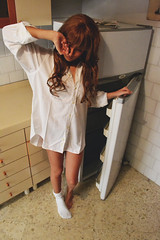 Lolita (Mike__Photos) Tags: cute kitchen girl vintage pretty sleepy lolita wakeup goodmorning