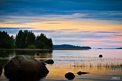 Summernight special (>>Marko<<) Tags: sky lake nature water rock canon suomi finland landscape nightview kivi maisema vesi joensuu luonto pilvi taivas pielinen valokuvaus platinumheartaward
