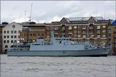 M111 - HMS Blyth (PaulHP) Tags: london thames river anniversary president navy royal battle atlantic boa 70th minesweeper blyth rn hms m111