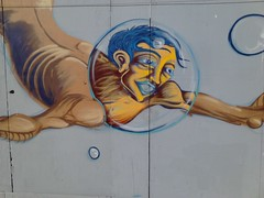 3rd and Mission, San Francisco (sftrajan) Tags: mural temporary yerbabuenagardens plywood missionstreet thirdstreet flickrandroidapp:filter=none