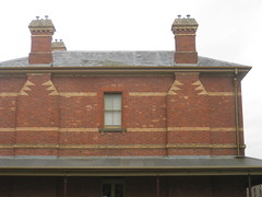 The Former Ballarat Police Station and Barracks - Camp Street, Ballarat (raaen99) Tags: city windows roof chimney building brick window stone architecture facade 19thcentury victorian australia victoria victoriana verandah residence policestation lawandorder 1886 ballarat goldrush victorianarchitecture redbrick eave banding nineteenthcentury 1880s countryvictoria campstreet policedepartment civicbuilding constabulary policeforce victorianbuilding clinkerbrick policebarracks campst chimneybreast doublestorey goldrushera brickandstone provincialvictoria chimneynook featurebrick ballaratpolicestation ballaratpolicebarracks