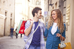 iStock_000022081038XXXLarge (gracipher) Tags: street people italy men boyfriend smiling fashion retail female shopping walking fun outdoors store women girlfriend couple friendship citylife happiness shoppingmall teenager customer cheerful oldtown twopeople shoppingbag 20s smileyface lifestyles youngwomen teenagegirls blondhair urbanscene 2025years teenagersonly italianculture onlywomen