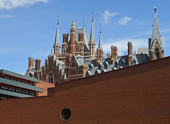 Old and New (amandabhslater) Tags: london stpancras britishlibrary georgegilbertscott midlandgrandhotel