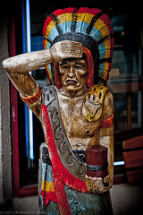 Cigar Store (itonys) Tags: california color statue eos wooden indian cigar sancarlos 2012 eos1dmarkii