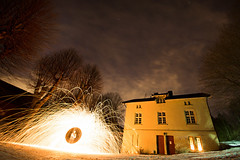The haunted house (captainZappa) Tags: trees light sky house wool oslo norway night stars long exposure steel