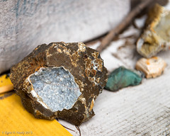 Geode (Zane's Photography) Tags: old rocks cardboard stick geode niksoftware 2470mmf28g nikond800 colourefexpro4