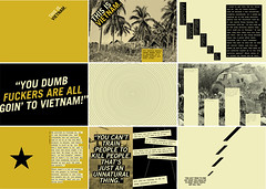 """This is Vietnam"" Spread Thumbnails (Jane Gardner) Tags: typography book design graphicdesign war vietnam story typographic"