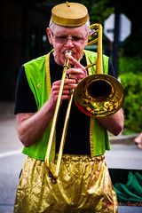 The Carnival Band-11 (Ted's photos for you) Tags: vancouver trumpet blowing trombone performers commercialdrive vancouverbc greenvest pillboxhat goldpants napierstreet carnivalband thecarnivalband slidetrombone tedsphotos britanniacommunitycenter stonesoupfestival shinybrass