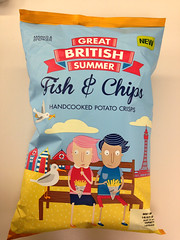 Fish & Chips flavour crisps (yumtan) Tags: london office crisps ms packages