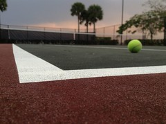 Let's play... (Bibi-Butterfly) Tags: sunset game photo play pic capture tenniscourt