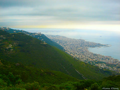 Jounieh, Zouk and Harissa - Lebanon (Hanna Khoury) Tags: voyage travel sea lebanon verde green tourism beach rain weather clouds landscape coast horizon hill bad cte nuages paysage viaggio  harissa         pluit