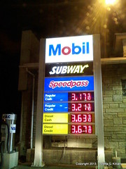 Gas Prices (Peachhead (1,000,000 views!)) Tags: price subway mobil gas petrol gasoline gallon memorialparkway phillipsburgnj petroliana us22