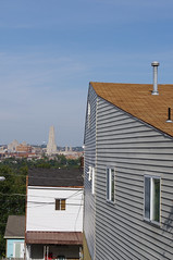 (Shane Henderson) Tags: blue windows roof chimney sky oakland pittsburgh universityofpittsburgh watertower siding stpaulcathedral cathedraloflearning houes southsideslopes litchfieldtowers