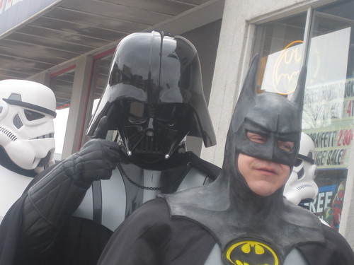 Darth Vader and Batman