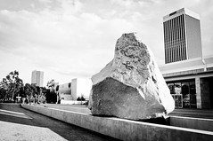 """Levitated Mass"" (vxla) Tags: california travel winter vacation blackandwhite bw holiday losangeles nikon december southerncalifornia dslr westcoast lacma 2012 lightroom losangelescountymuseumofart d90 vxla lightroom3 2010s"
