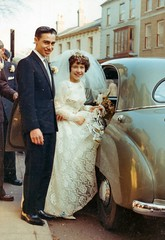 Mr & Mrs (siaronj) Tags: wedding car groom bride married husband wife 1963