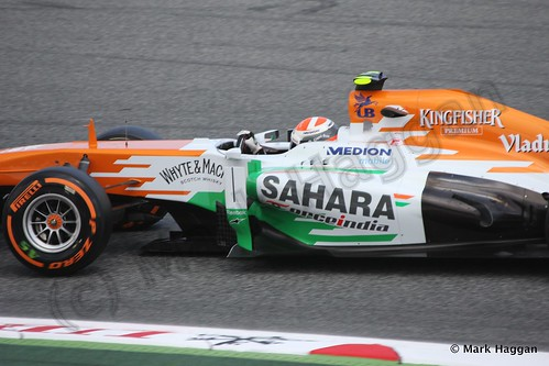 Adrian Sutil in Free Practice 2 at the 2013 Spanish Grand Prix