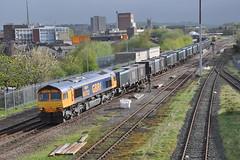 66702 Ainsworth Bridge Blackburn 14.5.13. (Blackburns Railway Scene) Tags: its may blackburn makes debut 2013 66702