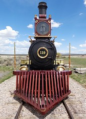The 119 (Blacksmith369) Tags: railroad trains 119 promontory pacificx xutahxunion pacificxcentral