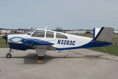 N3203C  Beechcraft  E35  Bonanza  KCAD  20130505 (✈ concord⁹⁷⁷) Tags: usa mi airport michigan aircraft jet cadillac airline beechcraft cad bonanza e35 kcad 04015001 wexfordcountyairport 31662 20130505 n3203c