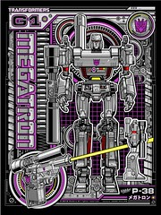MEGATRON (1SHTAR) Tags: print poster logo design gallery graphic transformers g1 illo megatron starscream acidfree