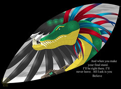 Believe (Thagirion3) Tags: art illustration digital drawing serpent snakes quetzalcoatl quetzal feathered
