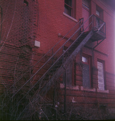 Old Scottville High School taken with 1950's Kodak Duaflex IV (jmickevi) Tags: camera school film lines mediumformat high kodak michigan negative epson medium format 100 kit iv rapid leading duaflex 620 ektar leadinglines c41 duaflexiv kodakduaflexiv v500 mediumformatfilm 620camera kodakduaflex kodakektar tetenal scottville colortec scottvillemichigan kodakektar100 ektar100 epsonv500 scottvillehighschool