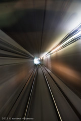 exiting bloor (Sameer Makwana) Tags: longexposure light urban toronto motion blur public speed underground subway timelapse movement ttc trails fast tunnel warp transit exit